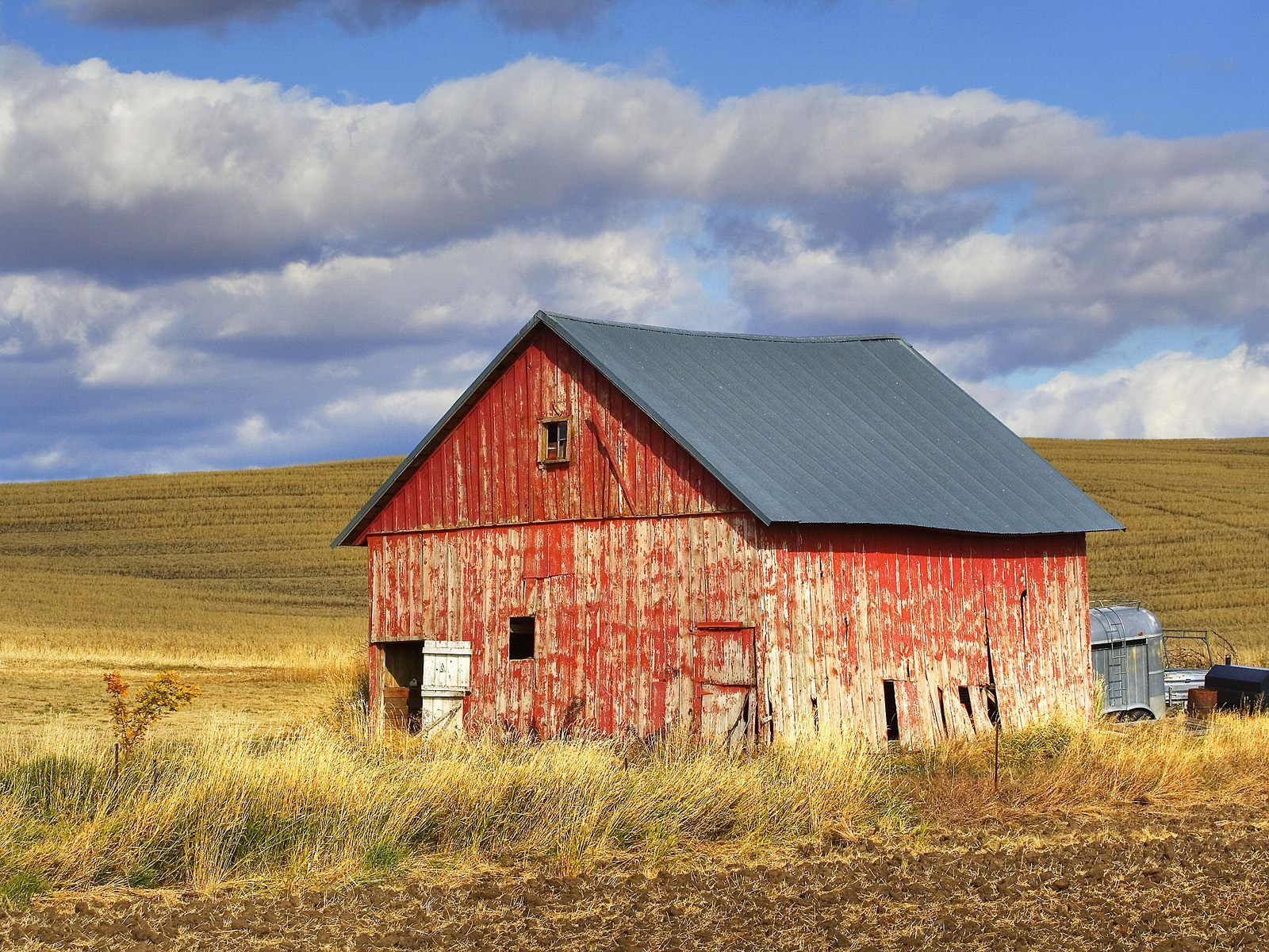 Nature Old Red Barn Palouse Washington picture nr 40448 1600x1200