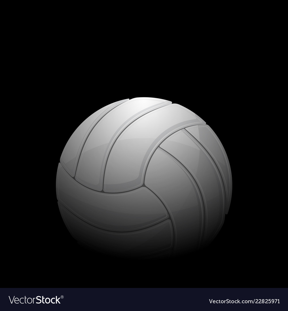 Volleyball black background Royalty Vector Image 1000x1080