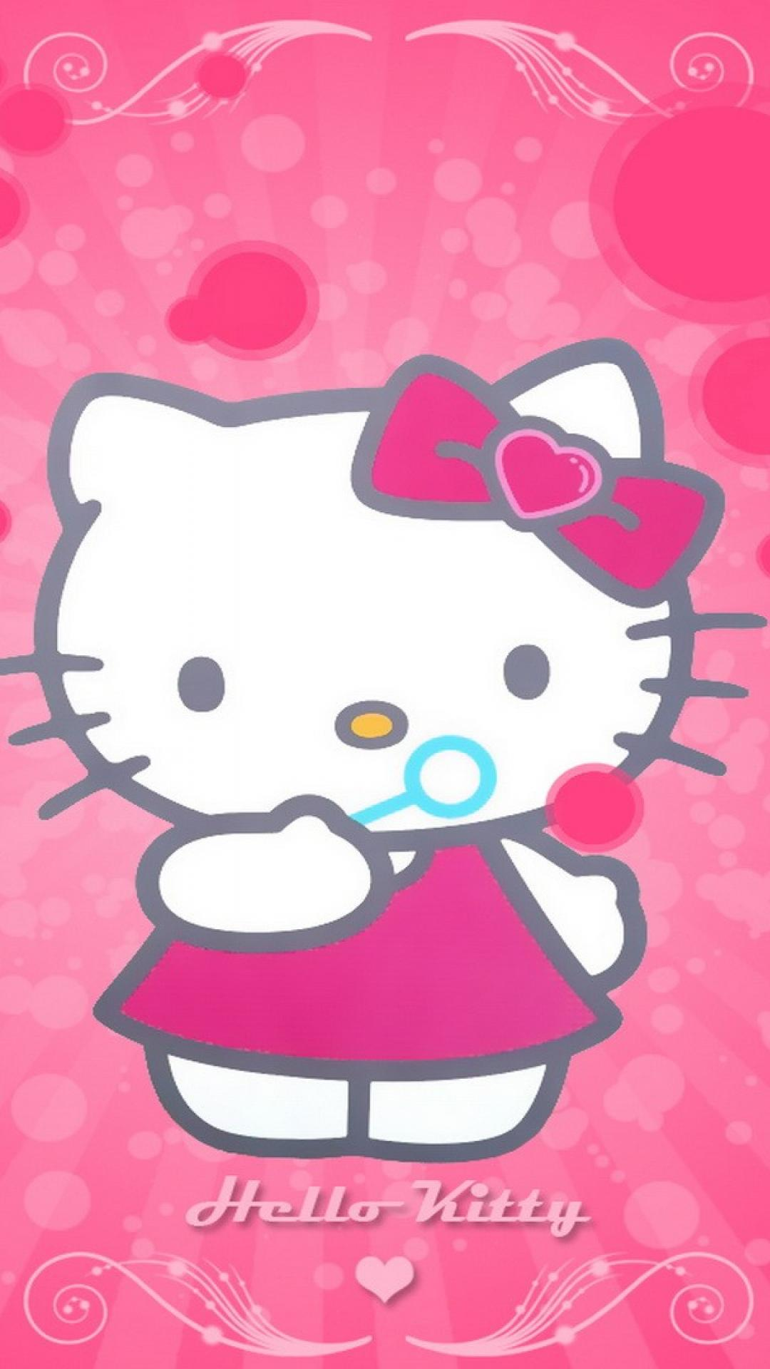 Pink hello kitty wallpaper 80590 1080x1920