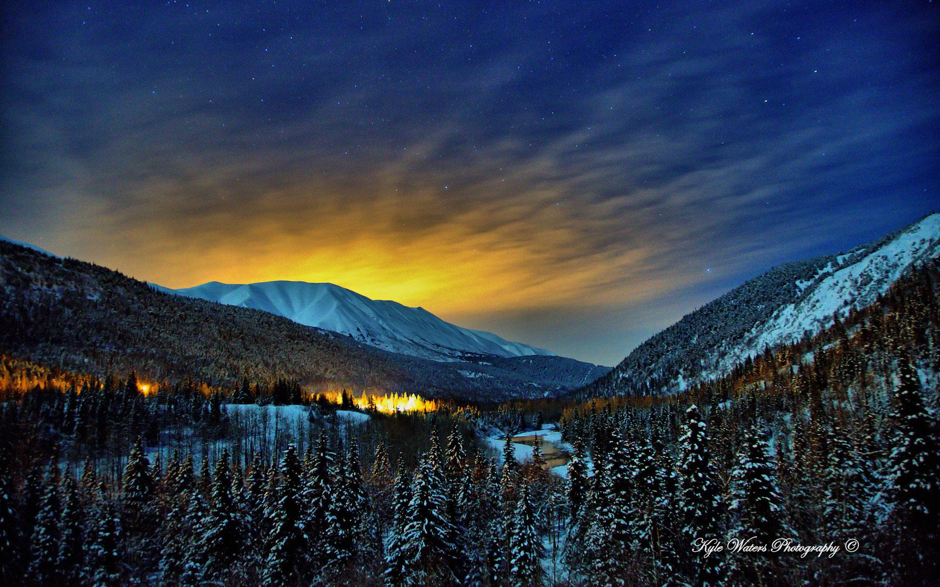 Alaska Winter Nights Wallpapers HD Wallpapers 1920x1200