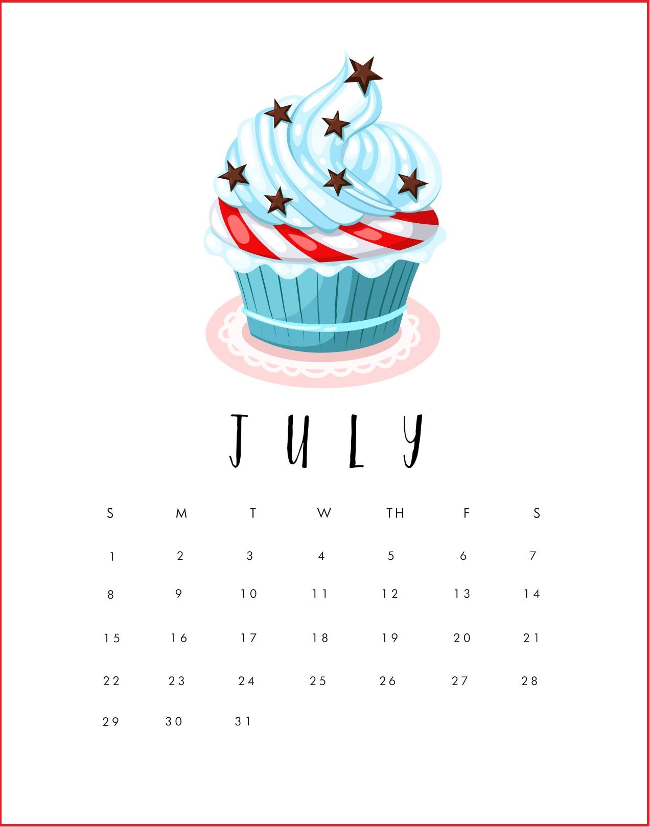 July 2018 Calendar Wallpapers 1272x1619