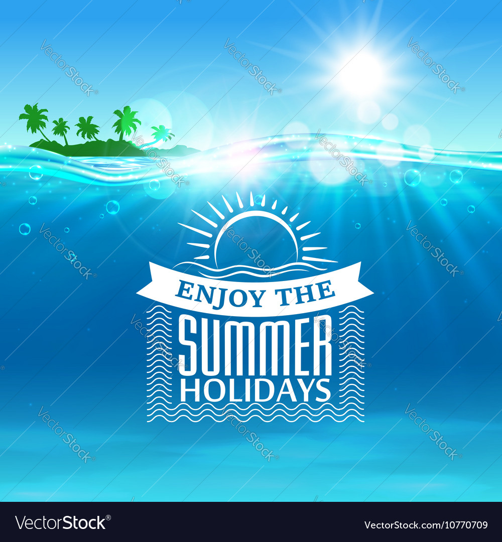 Enjoy summer holidays travel poster background Vector Image 1000x1080