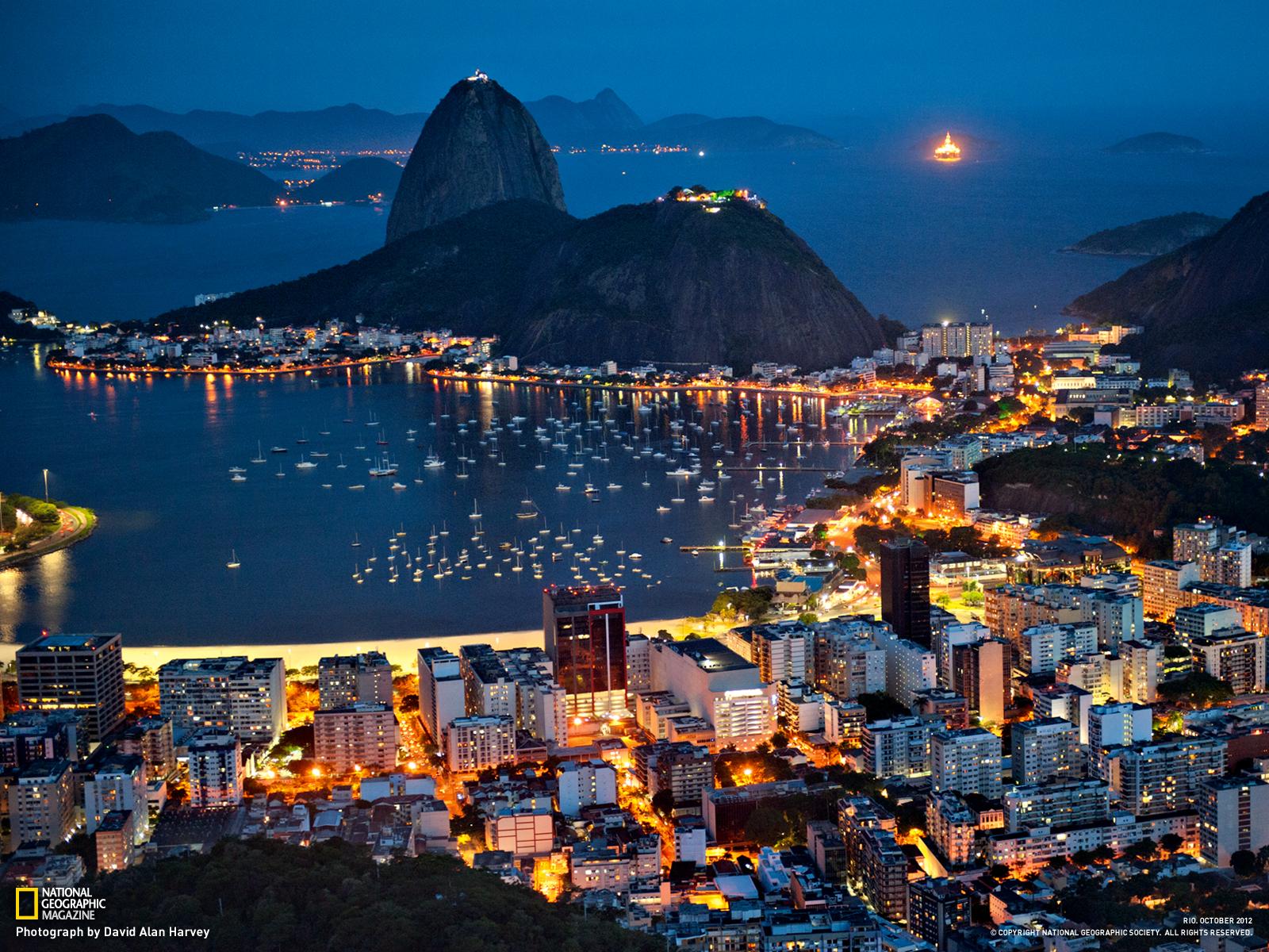 Botafogo Bay Picture    Rio de Janeiro Wallpaper    National 1600x1200