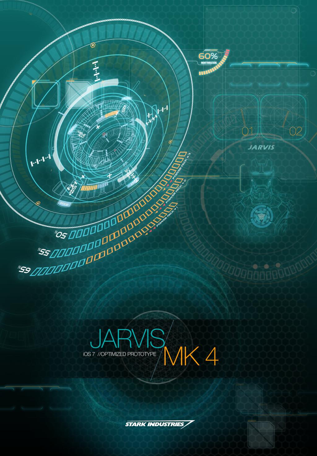 JARVIS MARK 4   iOS 7 OPTIMIZED WALLPAPER by hyugewb 1024x1470