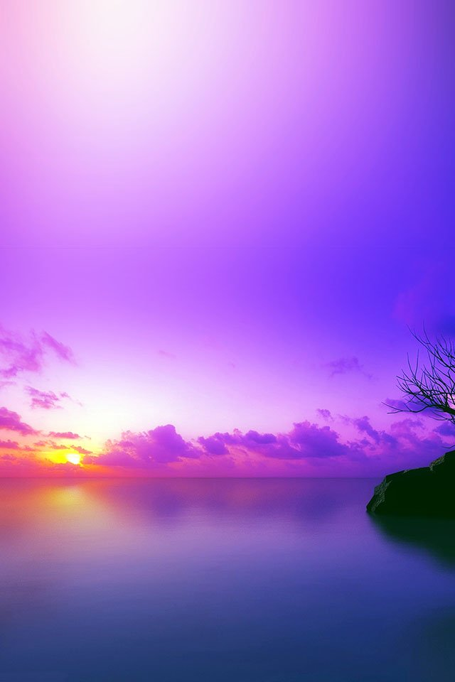 sunset purple iPhone 4s Wallpaper Download iPhone Wallpapers iPad 640x960