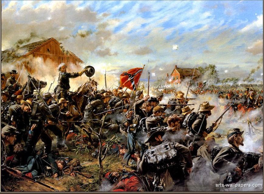 Civil War Paintings httpwwwarts wallpaperscomgalleriescivil war 869x638