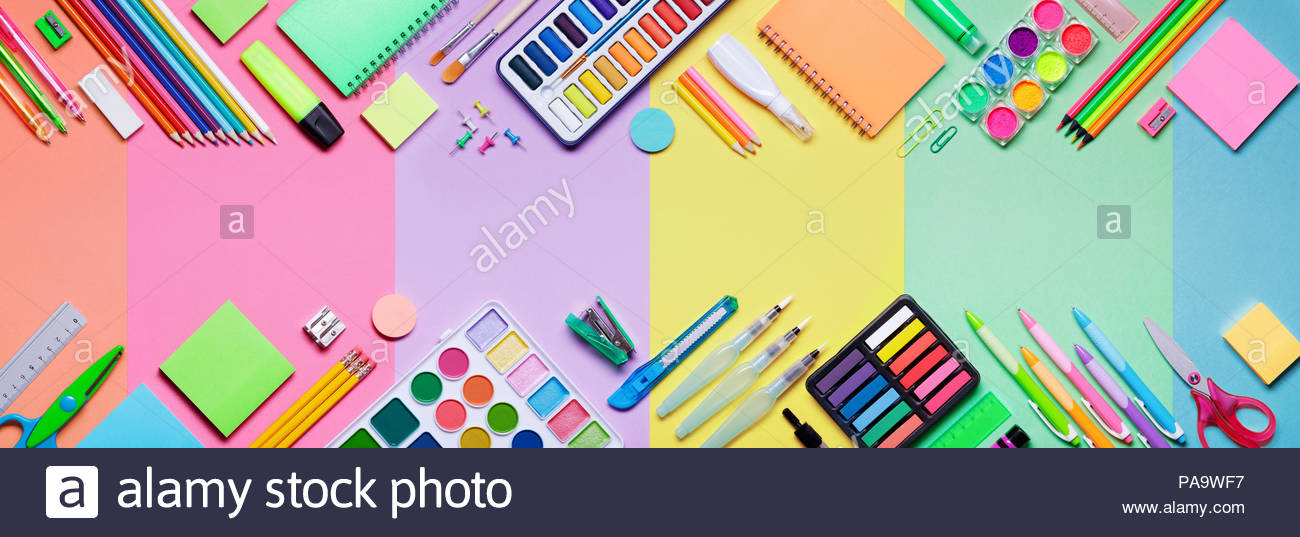 Free Download School Supplies With Colorful Paper Background Education Banner 1300x537 For Your Desktop Mobile Tablet Explore 31 Supplies Background Supplies Background Wallpaper Supplies Supplies For Wallpapering