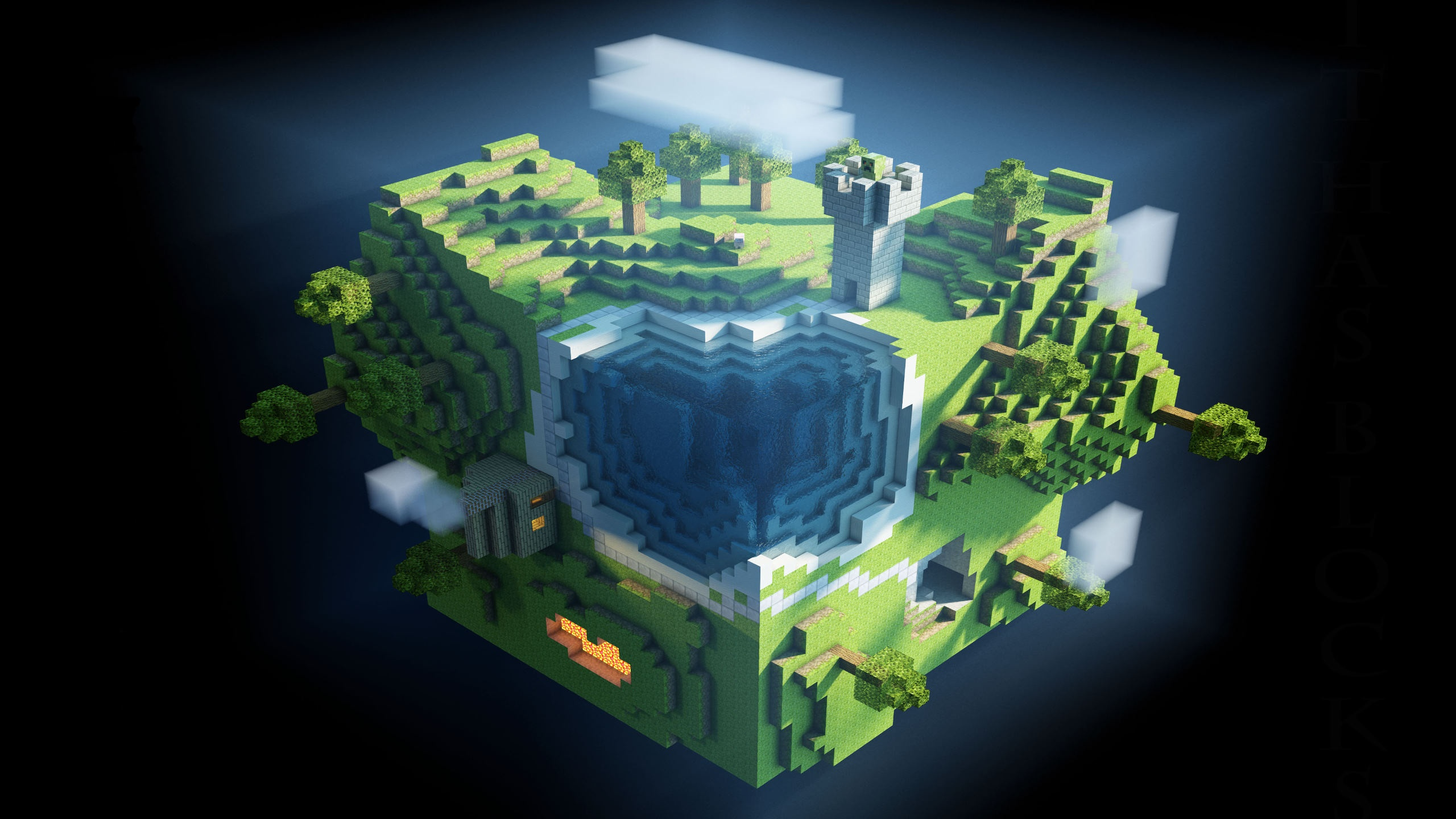 2560x1440 Minecraft desktop PC and Mac wallpaper 2560x1440