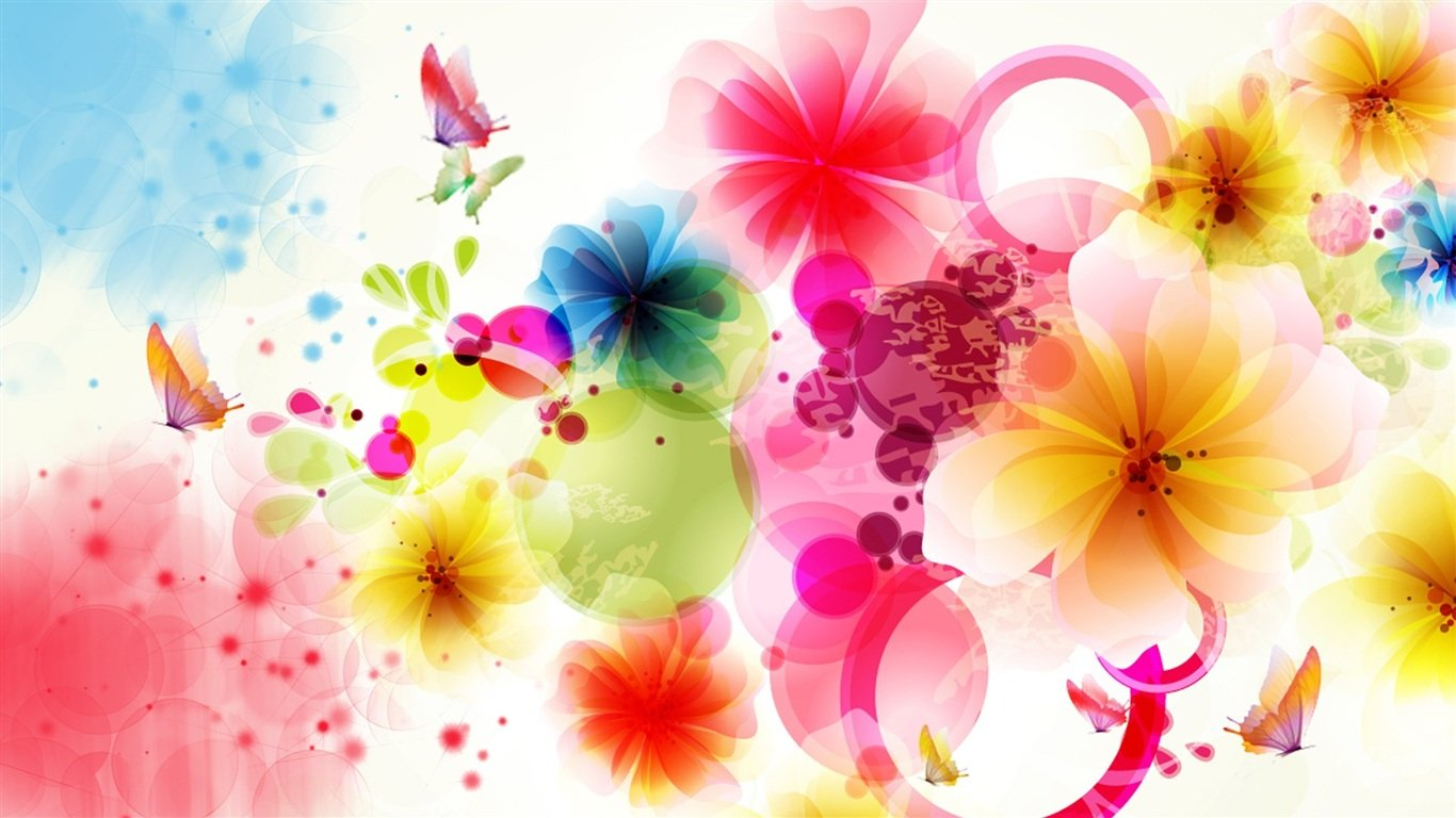 Flower Wallpaper Designs Wallpapers Background 1366x768