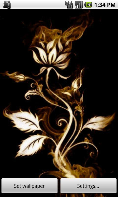 Download Rose On Fire Live Wallpaper for your Android phone 480x800