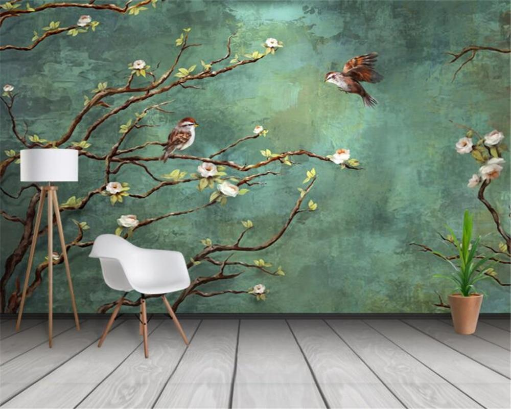 3D Mural Painted Birds Trees Decoration Wallpaper Index Cove 1000x800