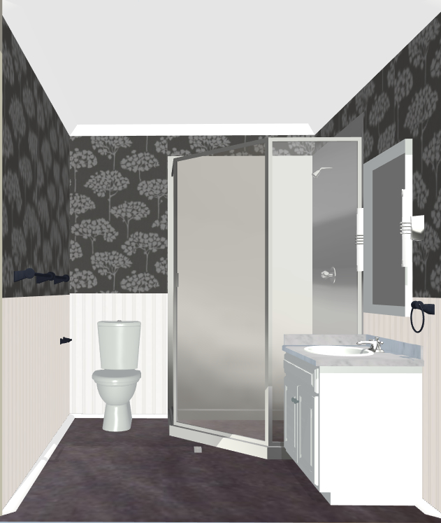 And here I was yesterday in the final product Its a tiny bathroom so 631x747
