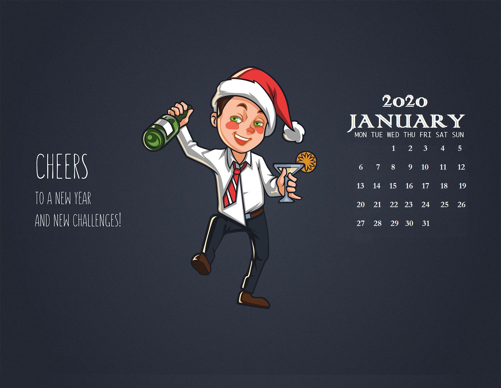 January 2020 Wallpaper Calendar Calendar 2019 1600x1240