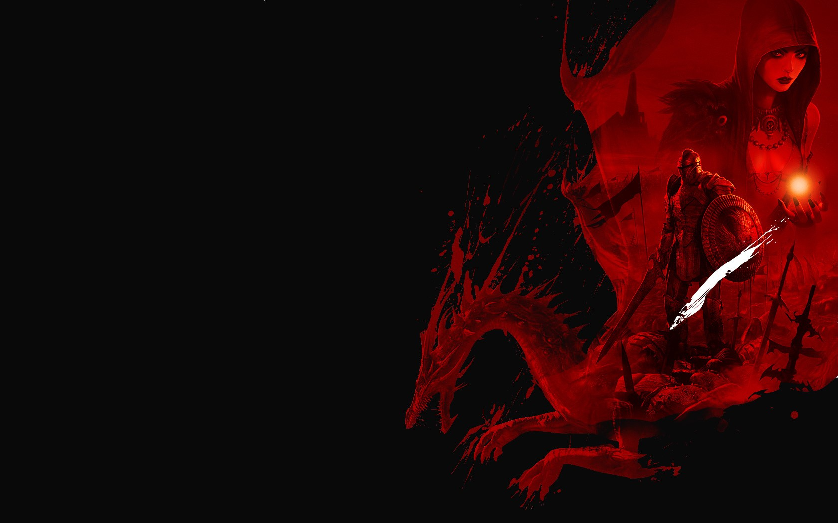 Dragon red background backgrounds for powerpoint templates | Black ...