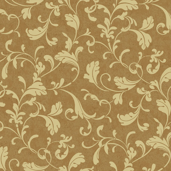 Gold Gold Tuscan Leaf Scroll Wallpaper   Wall Sticker Outlet 600x600