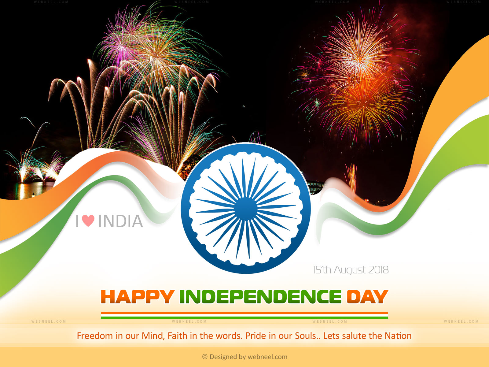 th August Happy Independence Day of INDIA Wishes wallpaper 1600x1200