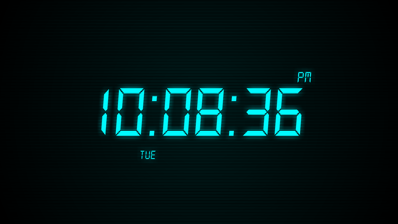 Windows] Turn your screensaver into a digital clock with Clock Savers 1366x768