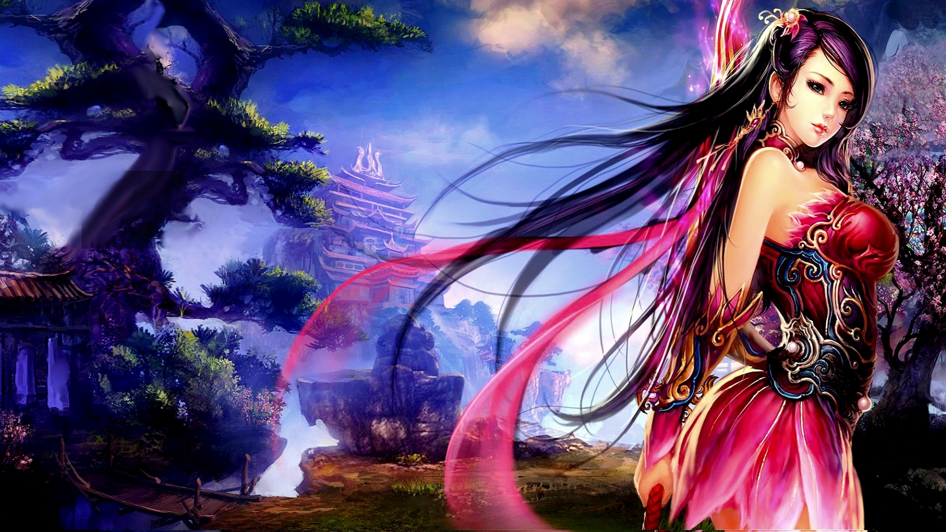 Free Download Wallpaper Fantasy Girl 1920x1080 1920x1080 For
