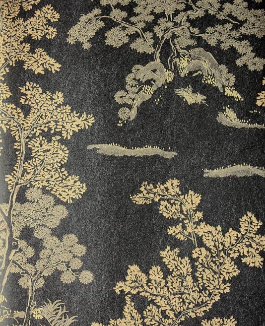 Black and silver tree wallpaper wallpapersafari for Oriental wallpaper