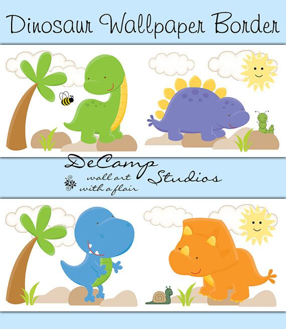 49 dinosaur wallpaper for kids room on wallpapersafari - Paperboy dinosaur wallpaper ...