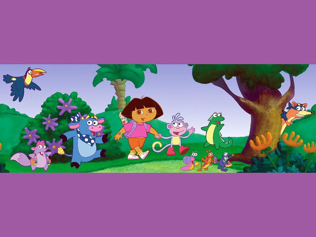 Dora the Explorer in the forrest Wallpaper   Dora the 1024x768