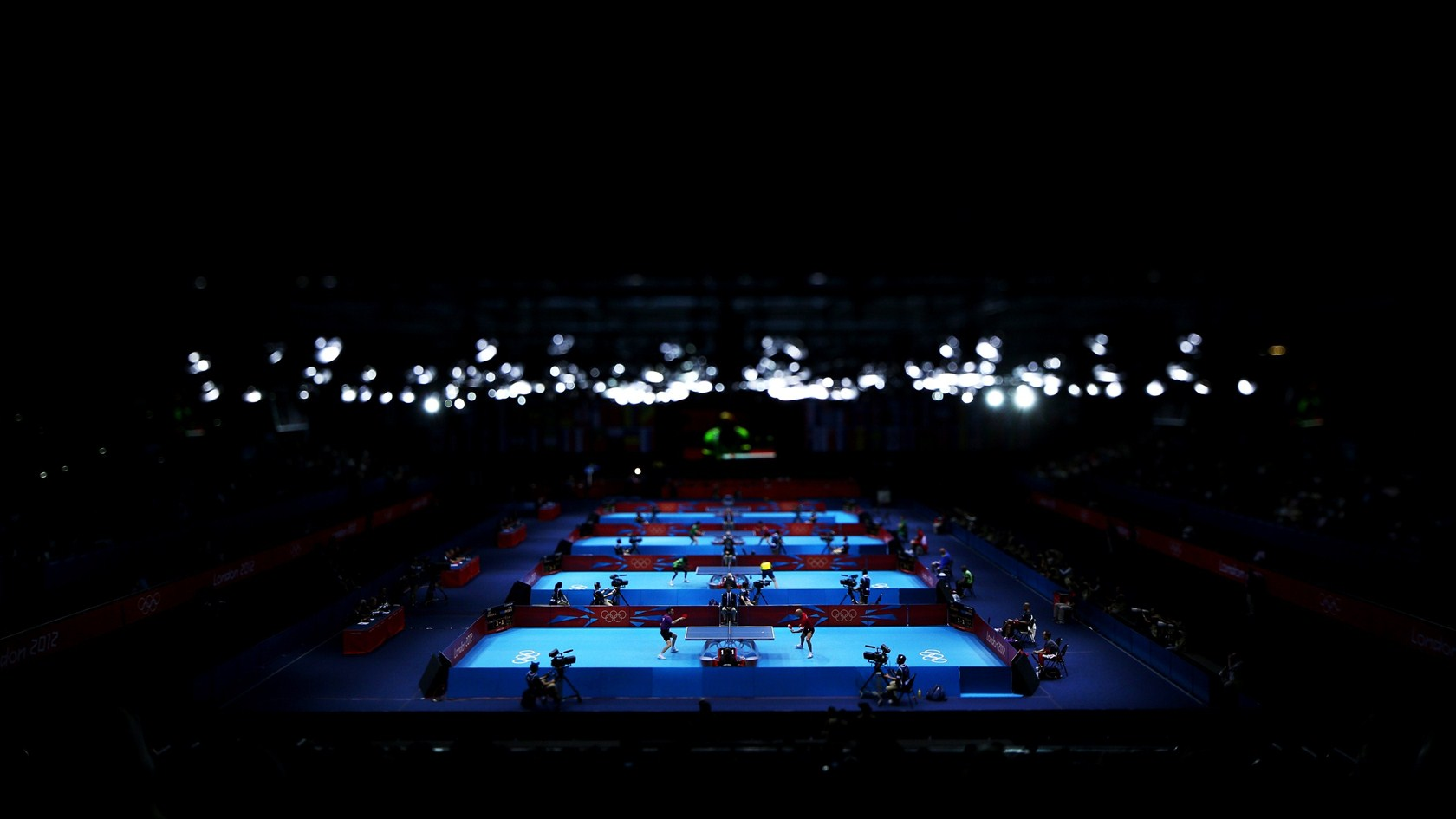 An inside snapshot of the ExCeL Hall Table Tennis HD Wallpaper 1680x945