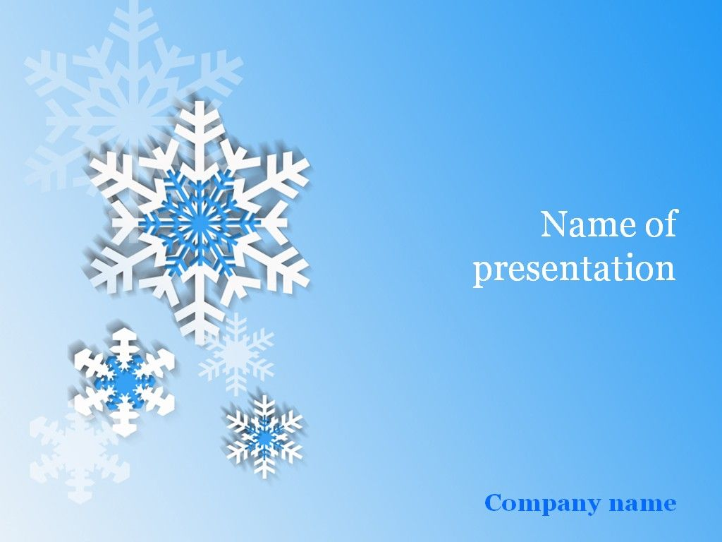 Snowflakes PowerPoint Template Templates Background powerpoint 1024x768