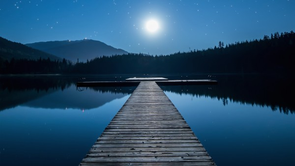 Canadian Moonlit Lake   3D Wallpapers UK   3D Backgrounds For all your 600x338