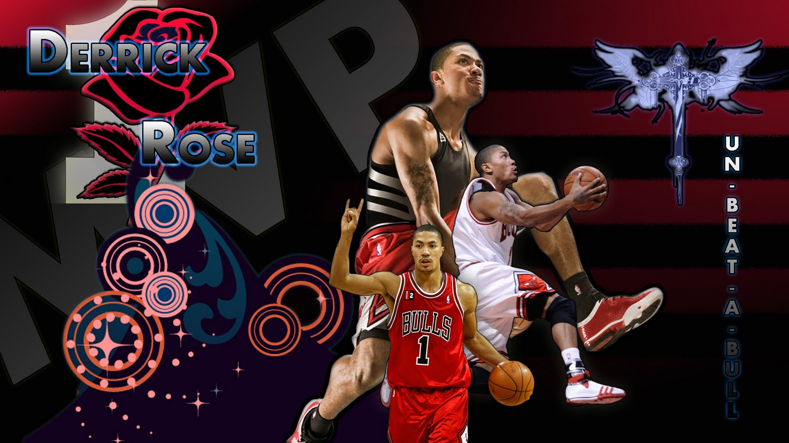 Wallpapers Derrick Rose NBA TSEBA 1600x900