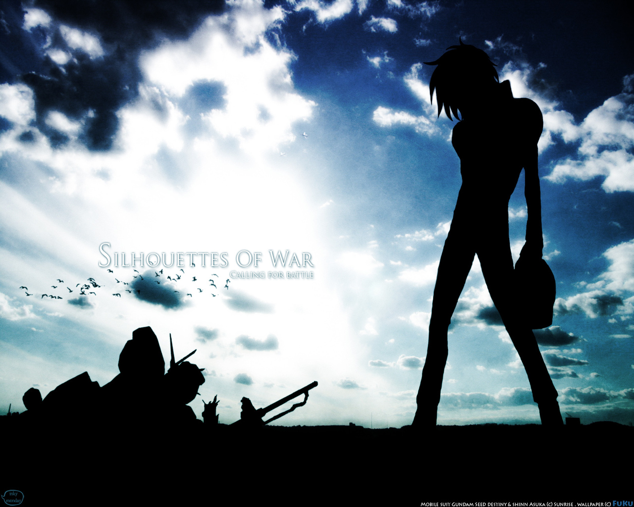 Silhouette wallpaper wallpapersafari - Anime war wallpaper ...
