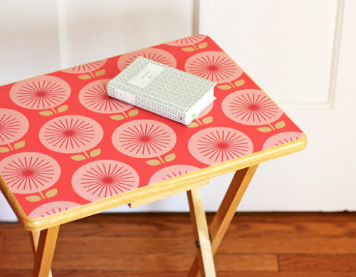Decorating ideas using wallpaper How About Orange 500x389