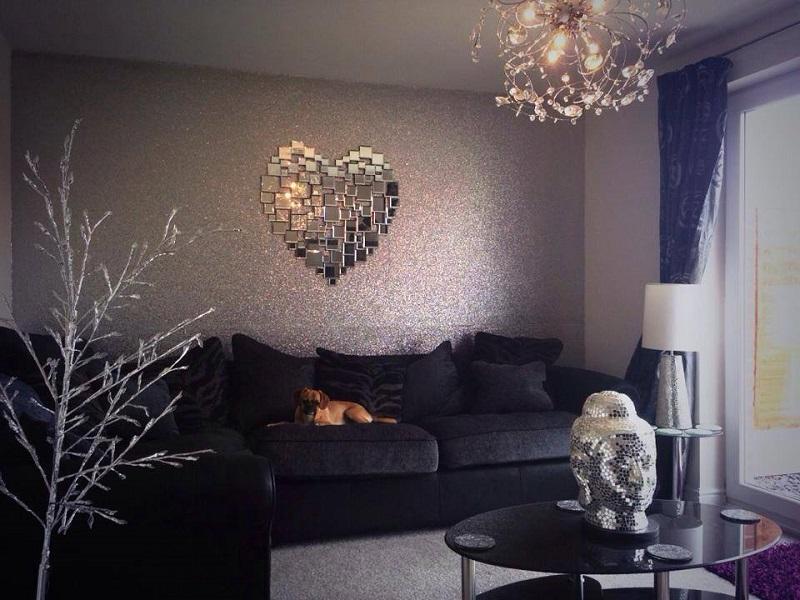 Silver Glitter Wallpaper For Walls New glitterwall 800x600