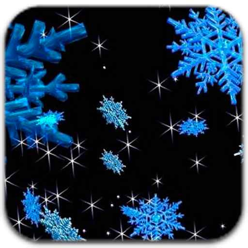 3D Animated Snowflakes Live Wallpaper Kindle Fire Apps 512x512