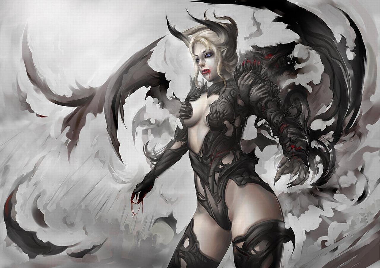 Sexy demon girl