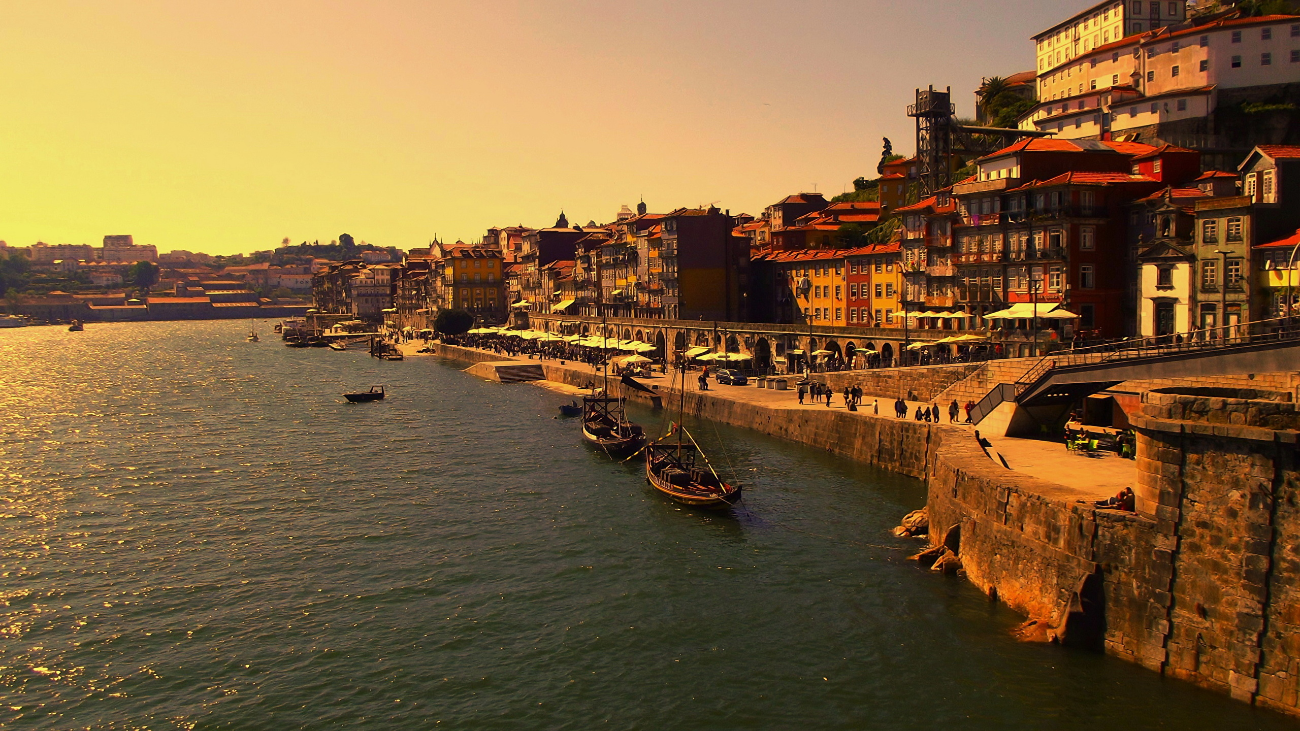 Desktop Wallpapers Oporto Portugal Vinho do Porto Coast 2560x1440 2560x1440