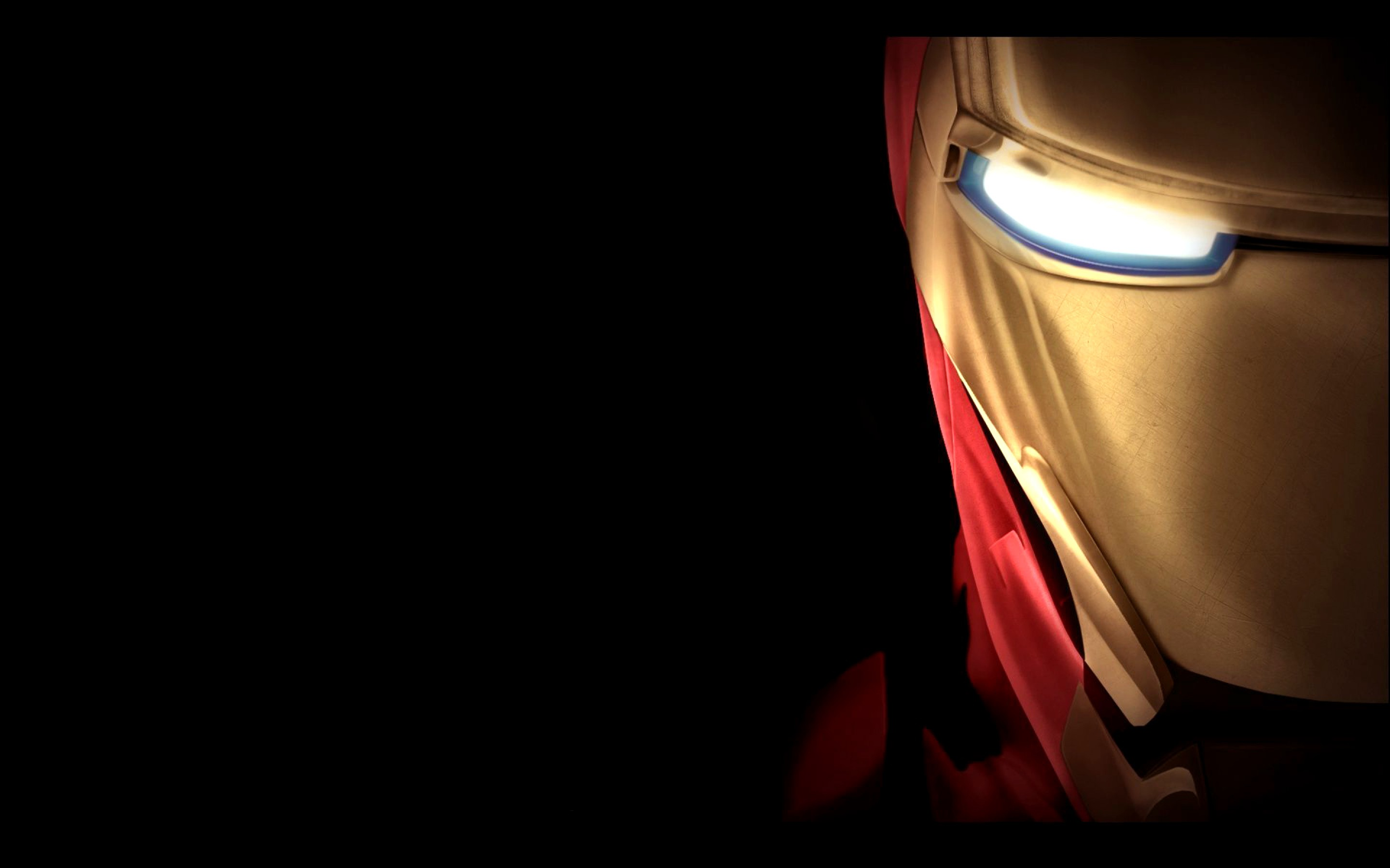 Cool Wallpaper with Iron Man Mask in Close Up and Dark 2880x1800