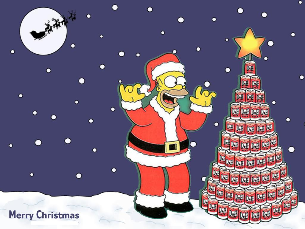Homer Simpson 1024x768 Christmas Wallpapers 1024x768