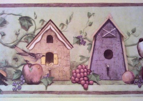 Rolling Borders Birds Birdhouses Gardening Wallpaper Border   41776460 500x354