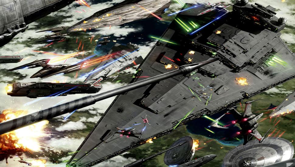battle of kashyyyk space battle star wars art wallpaper and 970x550