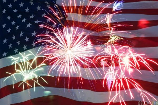 United states flag   fireworks wallpaper 15483   Open Walls 600x400