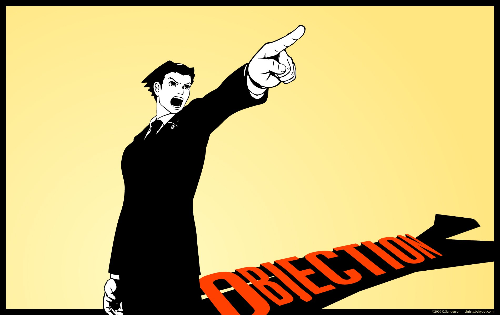 Gallery For gt Ace Attorney Objection Wallpaper 1900x1200