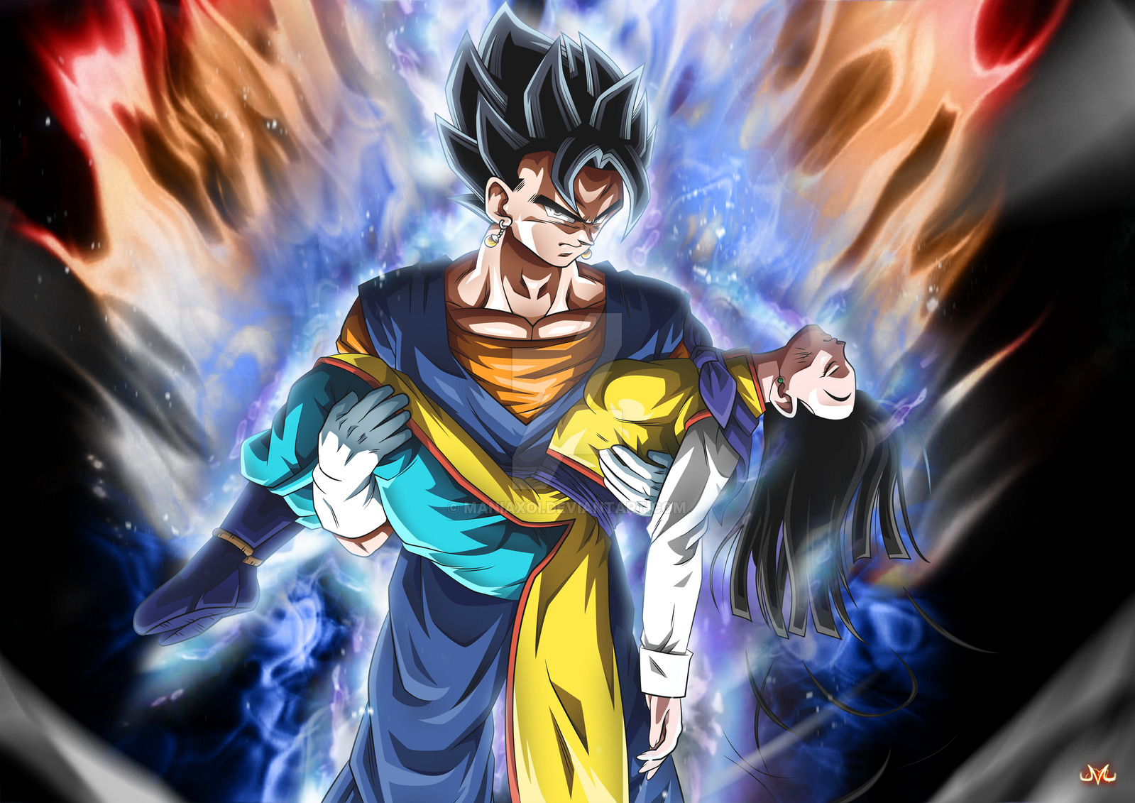 Vegetto Ultra Instinct by Maniaxoi 1599x1131
