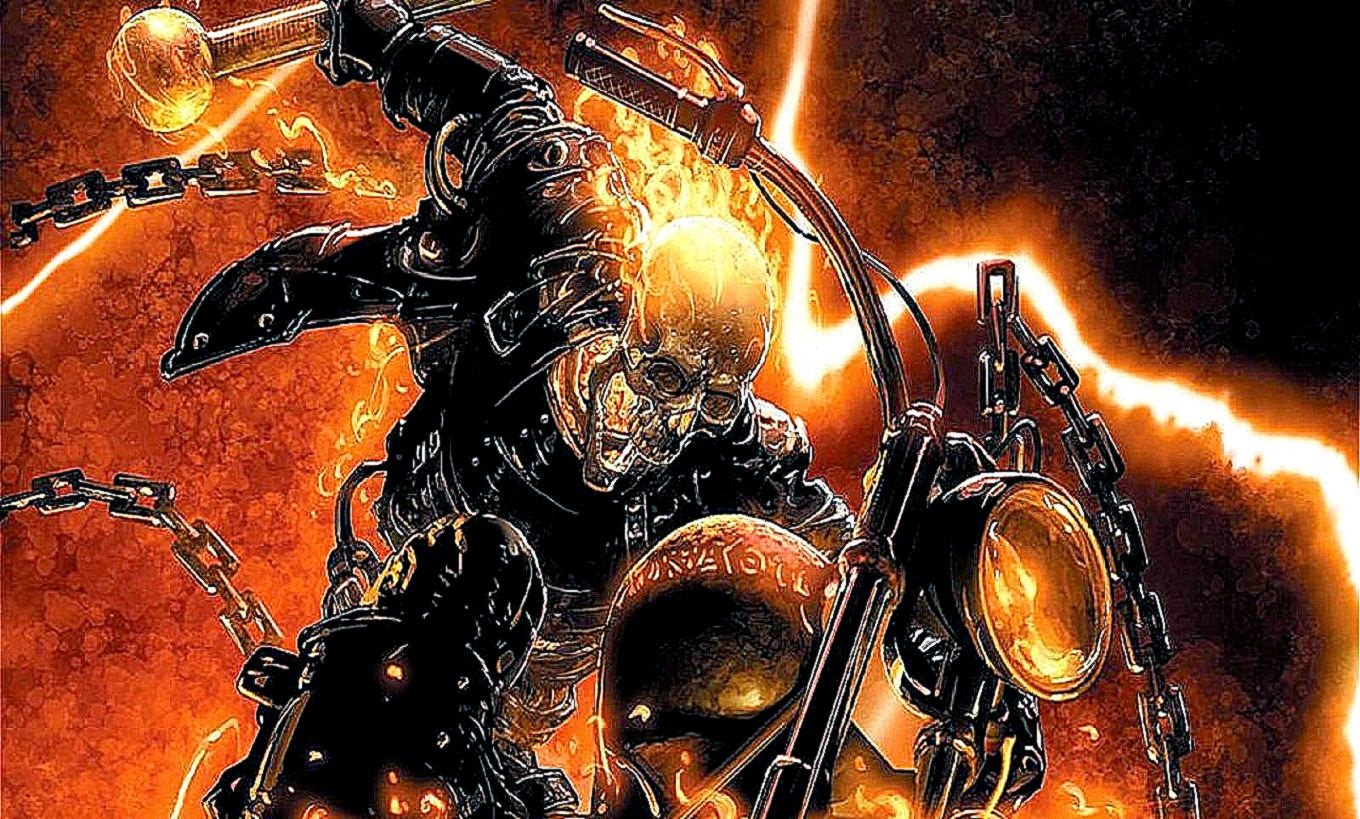 image Ghost Rider Flames PC Android iPhone and iPad Wallpapers 1360x819