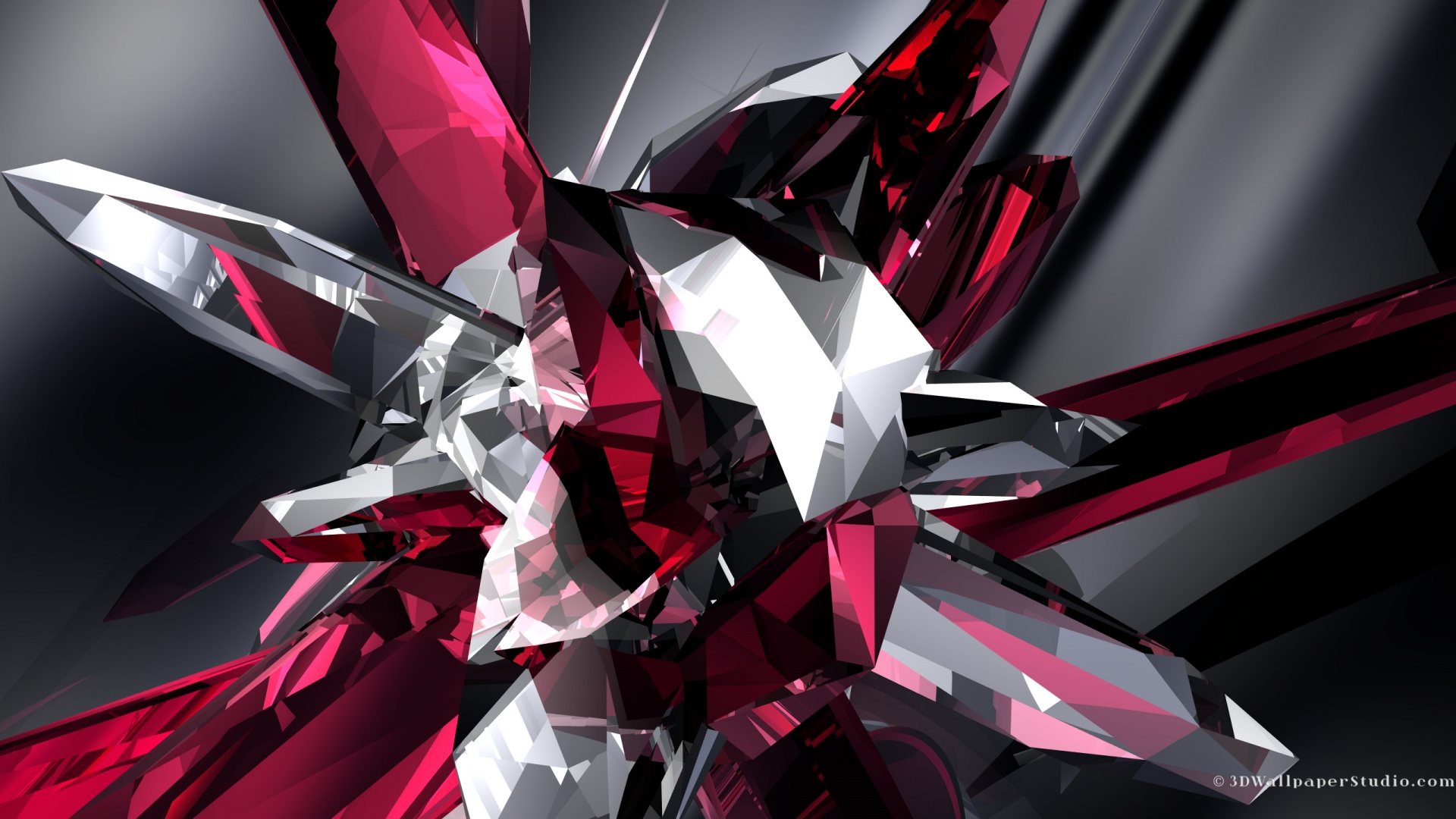 3D Wallpaper 3D crystal abstract 1920 x 1080 1920x1080