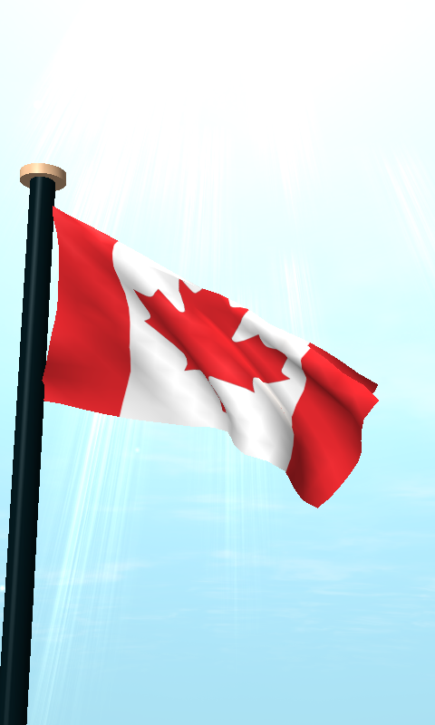 Canada Flag 3D Wallpaper   Android Apps on Google Play 480x800