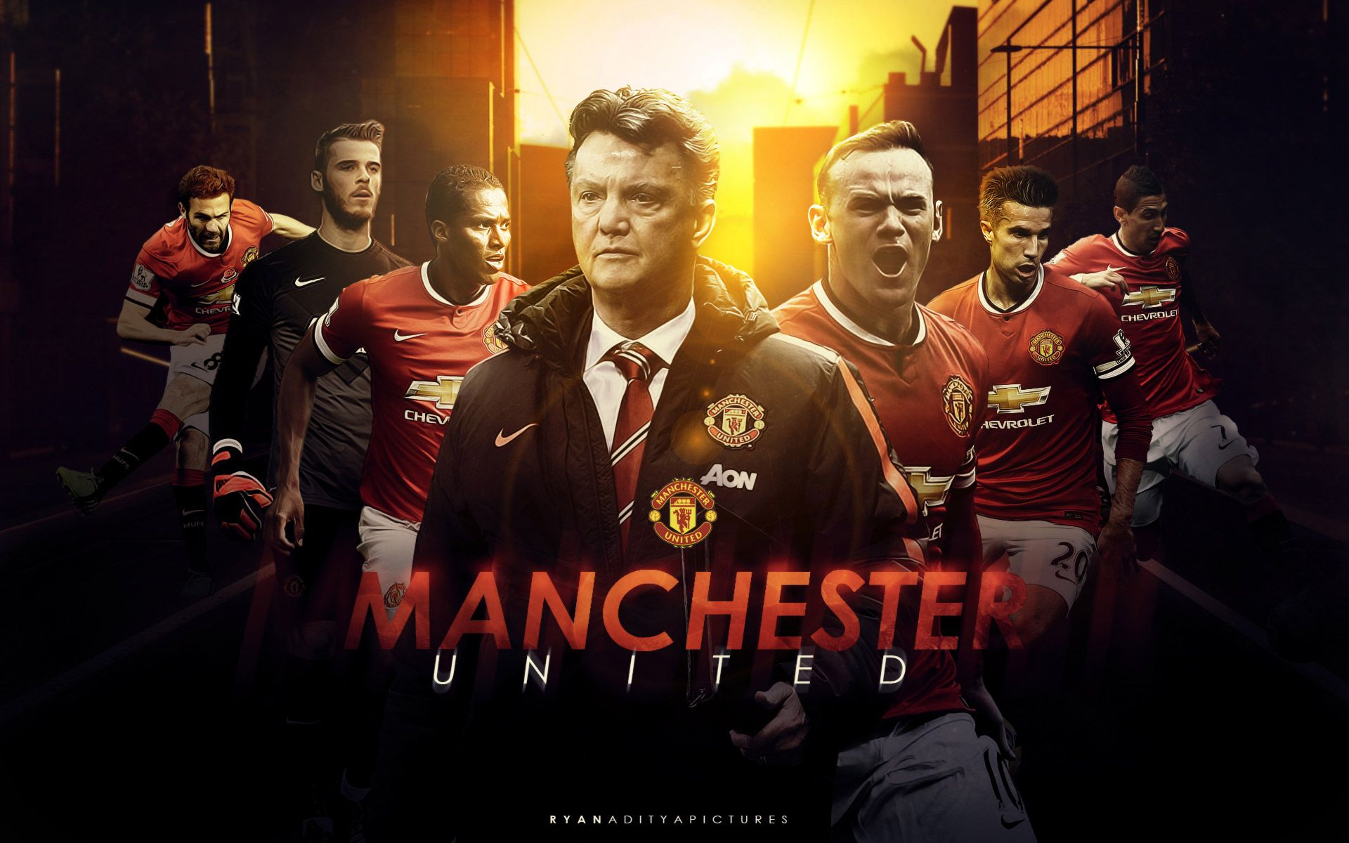 Apple iPhone Plus HD Wallpaper Manchester United Logo HD 1920x1200