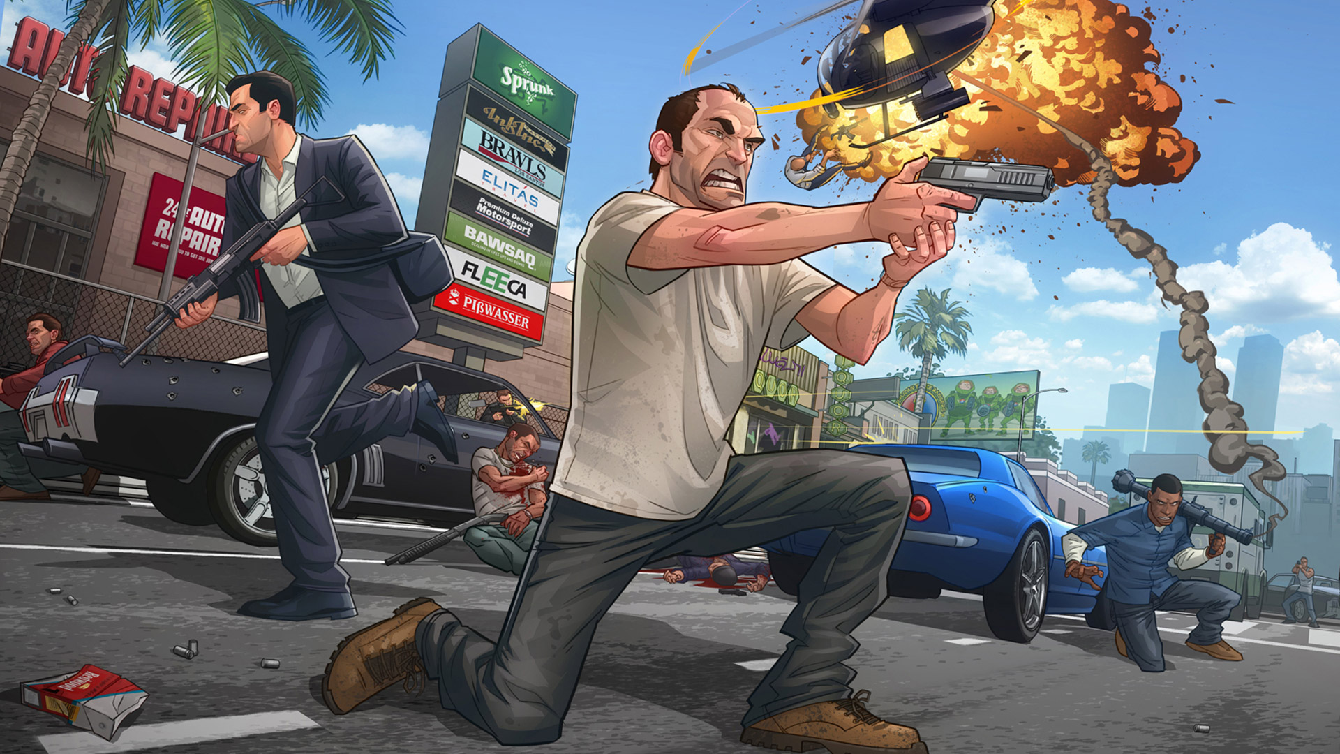Grand Theft Auto V Wallpaper in 1920x1080 1920x1080