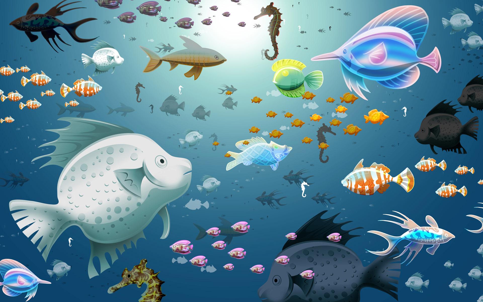 Fish in aquarium desktop wallpaper - Canada Fish Tank Diy Easy Fish Tank Background Trash Bags
