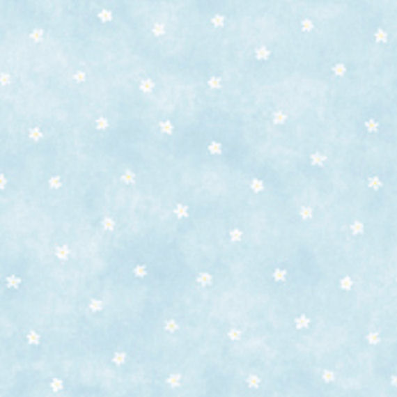 Blue Daisy Spot Wall Paper   Wall Sticker Outlet 570x570