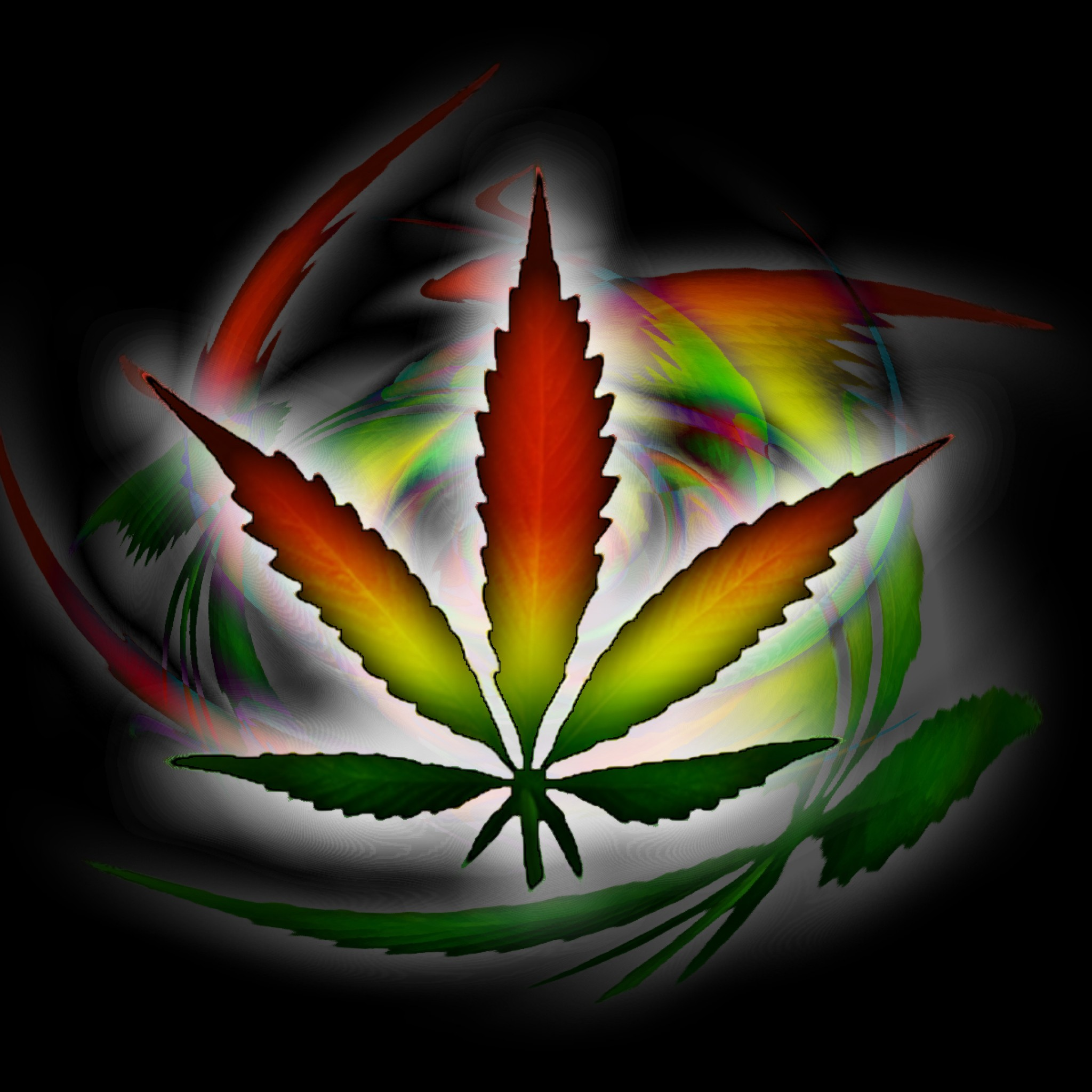 Multi Coloured HD Weed Wallpaper 2048x2048 Wallpapers